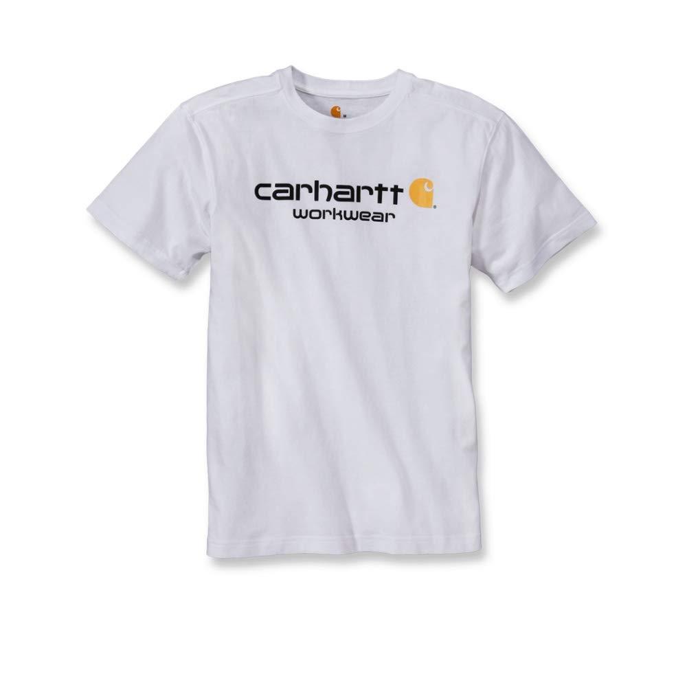 Carhartt T-Shirt Core Logo T-Shirt S//S Fired Brick Heather-XL