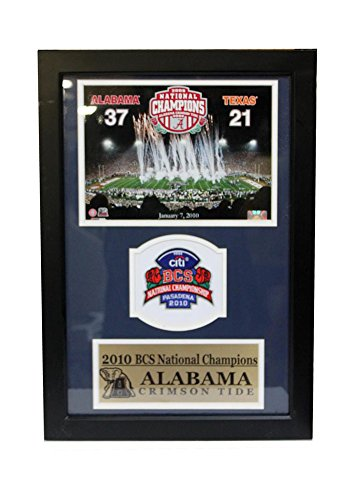 Encore Select 194-01 NCAA Alabama Crimson Tide Champions Patch Frame, with Photo and Patch, 12-Inch by 18-Inch by Encore