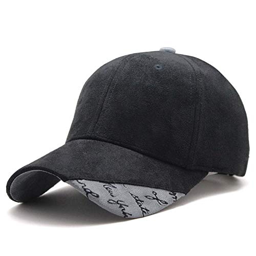 CHENTAI New Suede Fabric Baseball Cap Men Women Cotton Snapback Hat Black