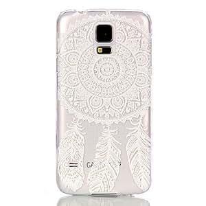 Caso duro del patrón de flor del hueco de la PC para i9600 Samsung Galaxy S5 ( Modelos Compatibles : Galaxy S5 )
