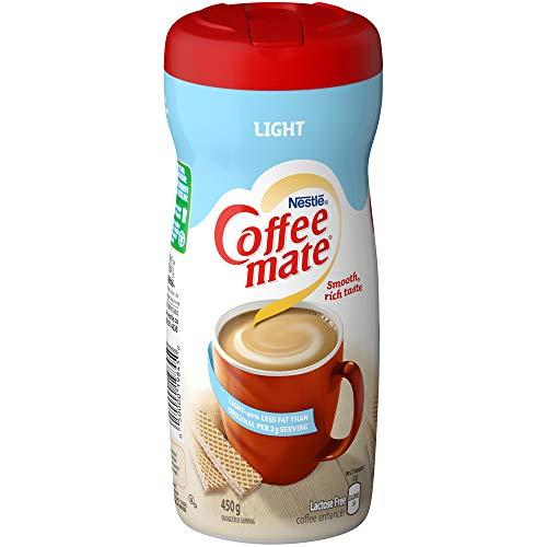 Non Fat Dairy Creamer Trans (Nestle Coffee-mate Lite 50% Less Fat (450g / 15.9oz) Made in Canada)