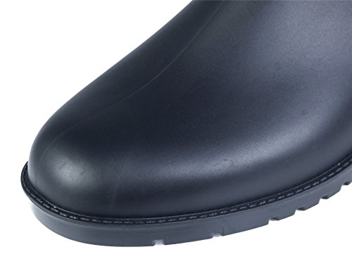Womens on Round Toe Chelsea AgeeMi Rain Waterproof Flat Slip Shoes Boots Black Rubber XC5qCxHOw