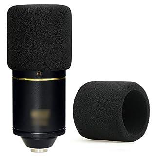 YOUSHARES MXL 770 990 Microphone Foam Windscreen - Mic Foam Cover As a Pop Filter (Black)
