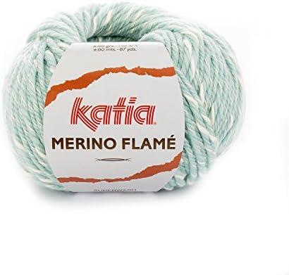 Katia Merino Flame FB. 105 – Aqua/Crudo, Aguja de Lana con algodón ...