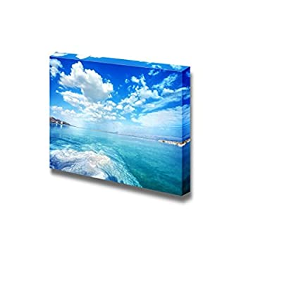 Beautiful Dead Sea Scenery Landscape on a Summer Day Wall Decor, Original Creation, Grand Visual
