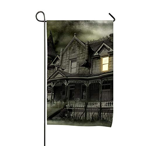 BYUII Garden Flag Holiday Decoration Dark Haunted Artistic Halloween Holiday House Spooky Double Sided Flag 28 x 40 Inch