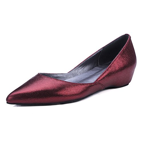AdeeSu Womens Casual No-Closure Light-Weight Comfort Leather Loafers Shoes SDC05385 Red oSbCJdPHU