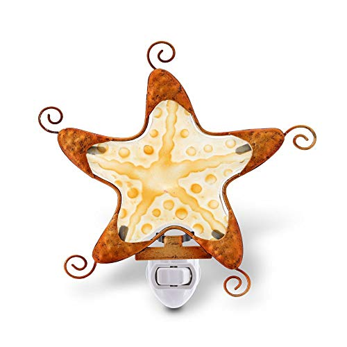 CoTa Global Night Light, Plug in Energy Efficient Decorative Socket Lamp Manual On & Off Portable Light for Stairway, Bedroom & Bathroom Marine Life Theme Accessory Home & Kitchen Decor - Starfish ()