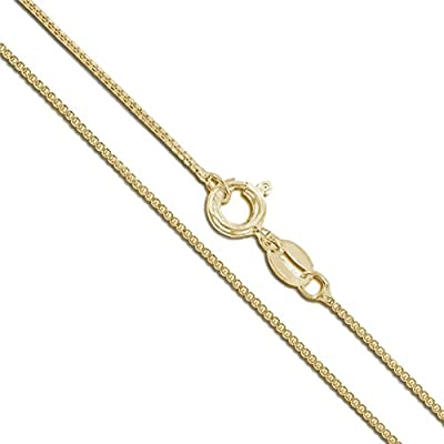 Solid 10k/14k White/Yellow Gold Box Chain from Sac Silver