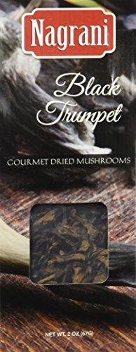 Nagrani Dried Black Trumpet Mushrooms, 2 Ounce