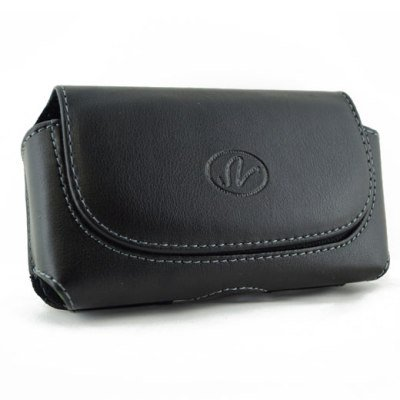 Brand New Black Color Horizontal Leather Cover Belt Clip Side Case Pouch For Nokia E6 E6-00