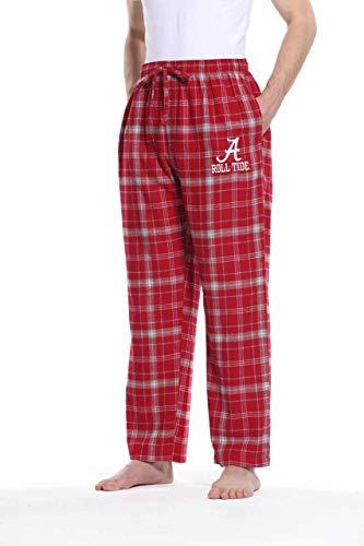 (Alabama Crimson Tide Adult NCAA Team Pride Flannel Lounge Pants - Team Color)