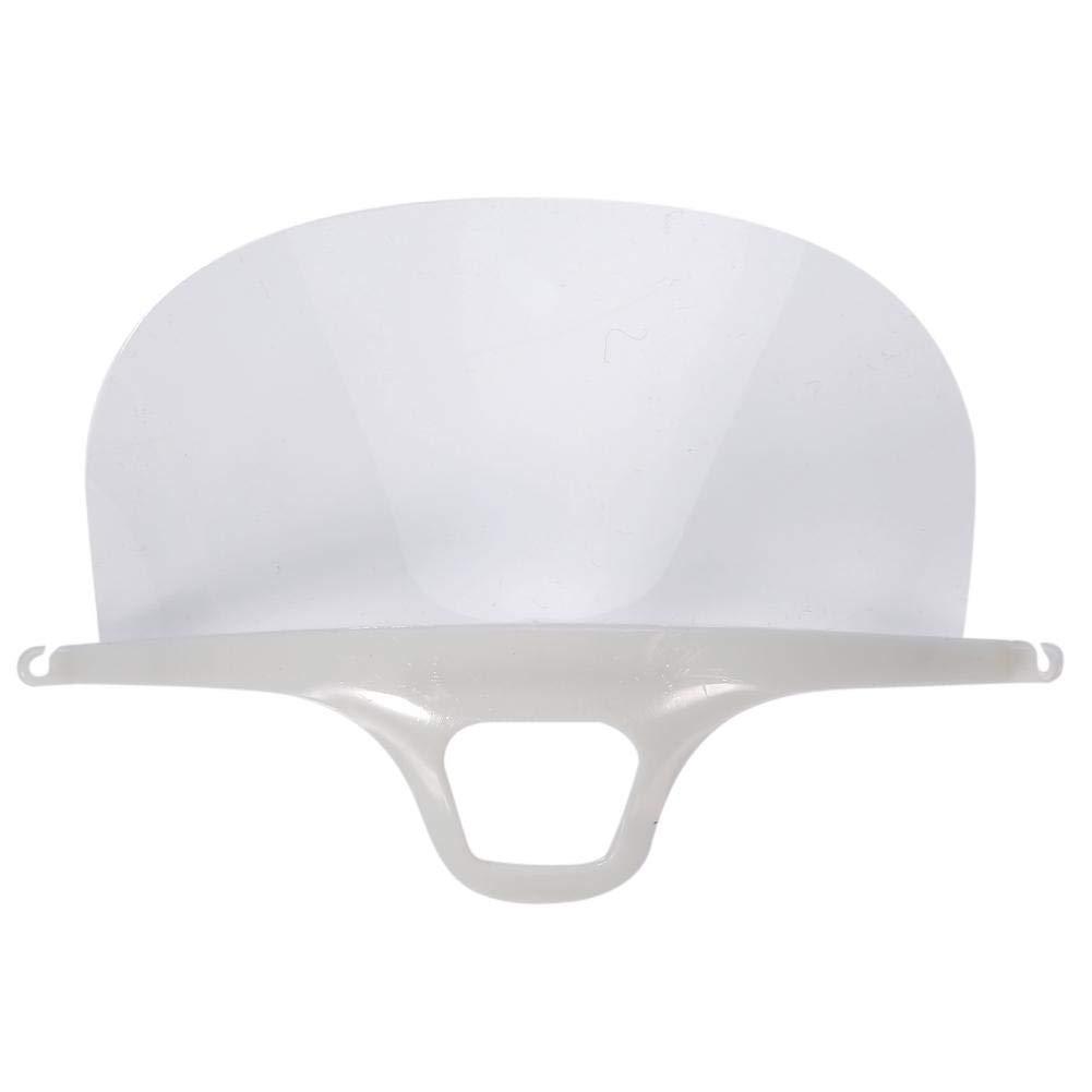 Zerone plastica Permanente Trasparente Anti-Nebbia Mascherina Facile da Usare respiratore Riutilizzabile (10PCS)