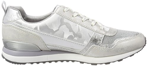 Femme white S silver Sneakers Blanc Basses oliver 23642 zz6W7qP
