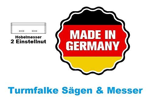 1590 P400 2 St/ück Hobelmesser Bosch 75x18x3 Typ 0590