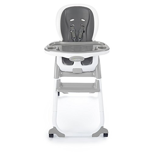 Ingenuity SmartClean Trio Elite 3-in-1 High Chair - Slate - High Chair, Toddler Chair, and Booster (3 Slate)
