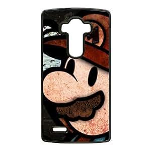 Super Mario Bros 2 U5X03D9EB caso funda LG G4 funda STNJ68 negro