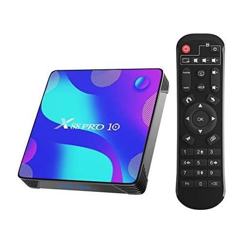 chollos oferta descuentos barato X88 Pro X10 Android 10 0 TV Box 4GB RAM 32GB ROM RK3318 Quad Core 64bit Cortex A53 Support 2 4 5 0GHz Dual Band WiFi BT4 0 3D 4K 1080P H 265 10 100M Ethernet HDMI2 0 Smart TV Box