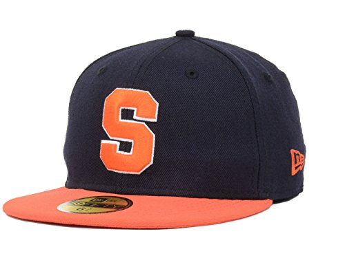 Syracuse Orange NCAA New Era Youth 2 Tone 59FIFTY Fitted Navy/Orange Hat Cap (6 5/8) (Hats Orange Navy Fitted)