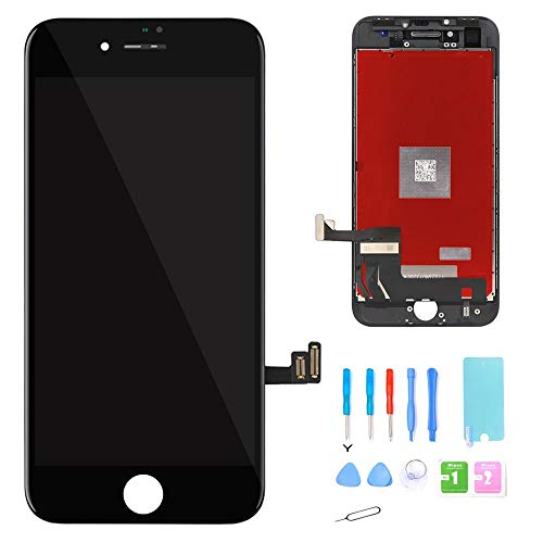 Screen-Fix Screen Replacement for iPhone 8 Screen 3D Touch LCD Screen Digitizer Replacement Display Assembly Repair Kits Tools and Instruction (Black) ()