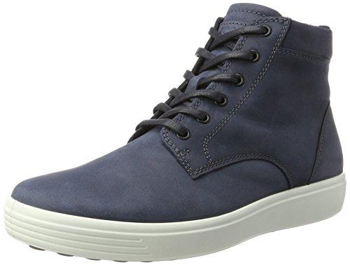 ECCO Soft Marine Uomo Alto Blu Sneaker Men's 7 Collo a 1ZWpxTU1wq