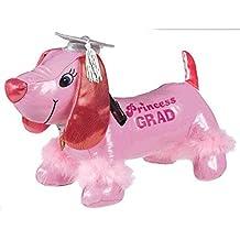 """Pink Dog Plush Graduation Party Autograph Keepsake Favour, Vinyl, 9"""" x 6"""" x 14""""."""
