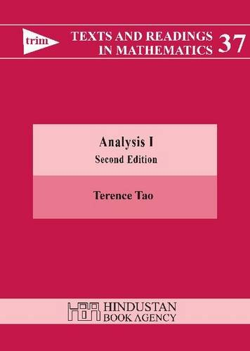 Analysis I (Texts and Readings in Mathematics, No. 37)