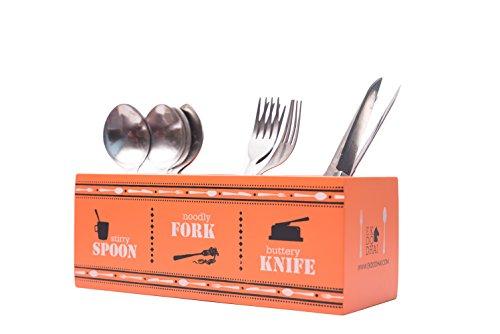 Ek Do Dhai SFK Wood Cutlery Holder, Multicolour Price & Reviews