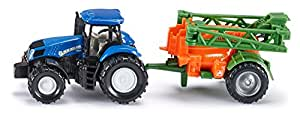 Siku  New Holland & Amazone Tractor with Crop Sprayer,Vehicle