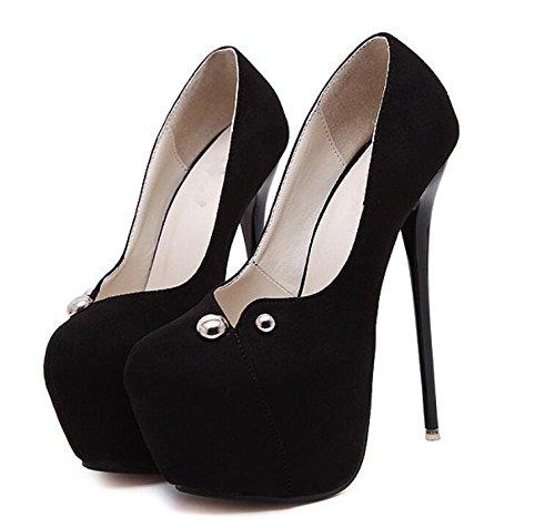 Chaussures Femmes Fermeté-Toe Chaussures , black , 38