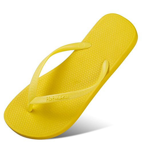 Flops Yellow Slipper Comfortable 35 Sandals 1 8Cm Height Flip Rubber Women Heel Breathable Black gOngR1a