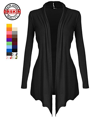 [DRSKIN] Women's Open - Front Long Sleeve Knit Cardigan (S~5XL)
