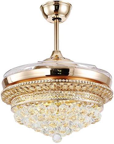 Nickacoo 42 inch Crystal Ceiling Fan Light