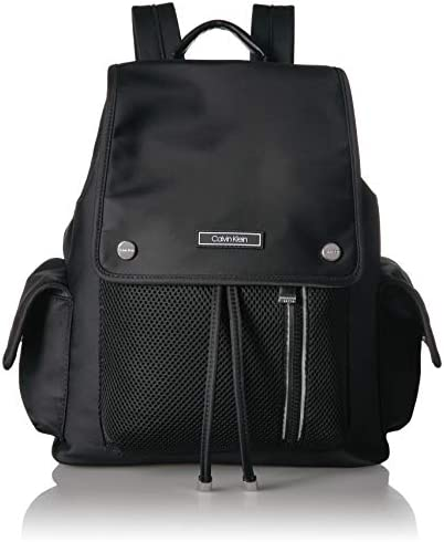 Calvin Klein Tali Nylon Mesh Organizational Flap Backpack