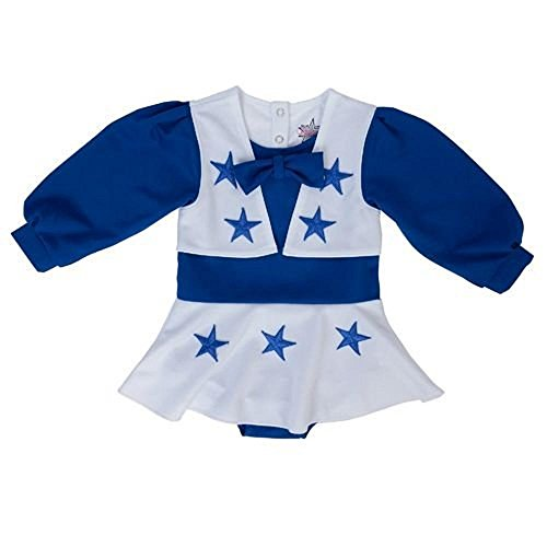 LSA Dallas Football Toddler Girls Royal Blue and White Cheer Uniform - 4T ()