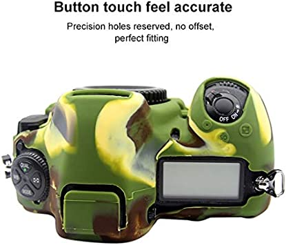Color : Yellow XulilinQ Camera Case Easy Silicone Protective Case for Nikon D850 Camouflage
