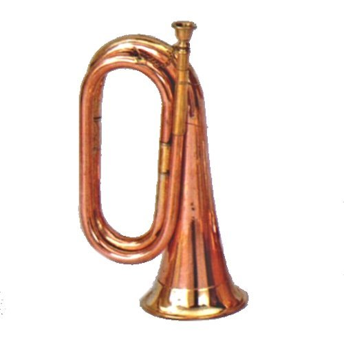Brass and Copper Bugle - Cavalry US British Army by RedSkyTrader
