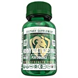 Organic Horny Goat Weed Supplement for Men & Women – 100 Veggie Capsules w/ 1800mg of Icariins, Maca Root, Saw Palmetto, Tongkat Ali & More – Fast-Acting Energy, Stamina and Performance Booster
