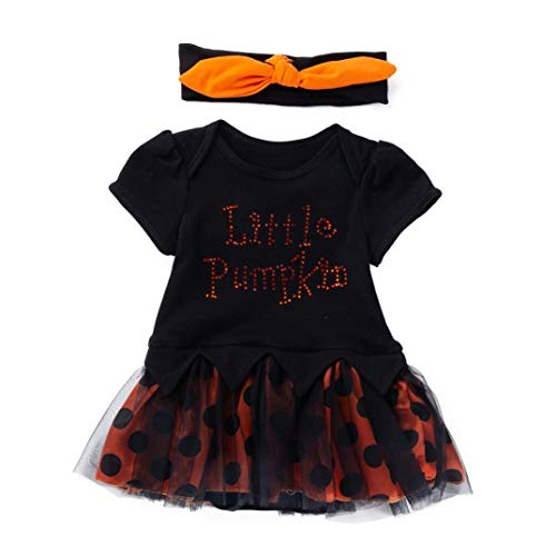 Baby Girls Halloween Clothes,Leegor Infant Toddler Letter Bow