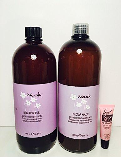 Maxima Nook Nectar Kolor Color Preserve Shampoo 33.8 Oz and Color Preserve Conditioner 33.8 OzFree Sexy Kiss Lip Plumping Gloss 10 Ml