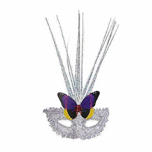 Face mask Shield Veil Guard Screen Domino False Front Butterfly rain Silk mask Halloween Dance Party Feather mask White