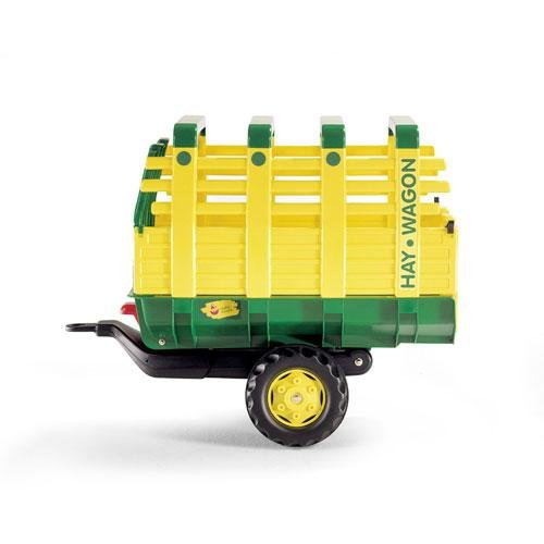 rolly toys Pedal Tractor Accessory: Rear-Tipping/Dumping Hay Wagon Trailer, Youth Ages - Trailer Hay