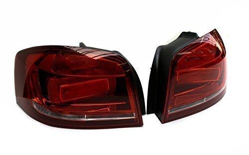Original Facelift Nachr/üstsatz 8P Original Audi Ersatzteile schwarze R/ückleuchten Audi A3