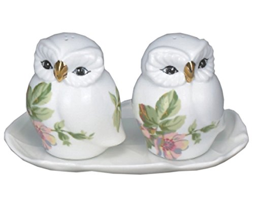 Owl Porcelain Salt and Pepper Shakers