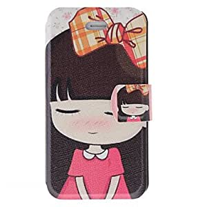 GHK - Fragrant Smell Shy Girl Pattern Full Body Case with Matte Back Cover and Stand for iPhone 4/4S