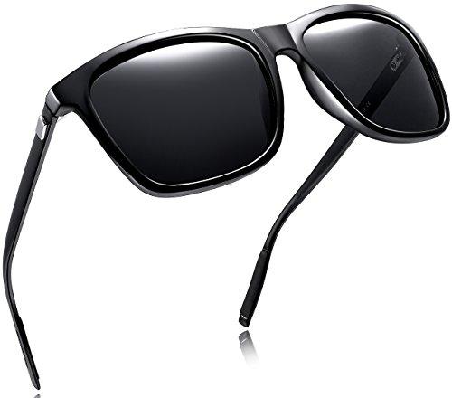 Joopin Unisex Polarized Sunglasses Classic Men Retro UV400 Brand Designer Sun glasses (Black Aluminum Legs, as the (Casual Mens Sunglasses)