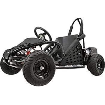 MotoTec MT-GK-01 Black Off Road Go Kart - 48V