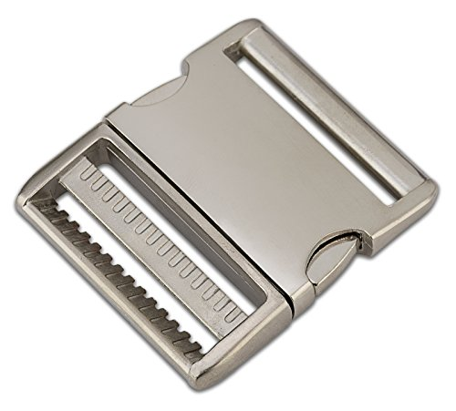 5-2 Inch Satin Aluminum Side Release Buckles ()