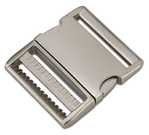 10-2 Inch Satin Aluminum Side Release Buckles (Alu Hardware)