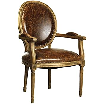Amazon Com French Country Louis Xvi Oval Back Leather